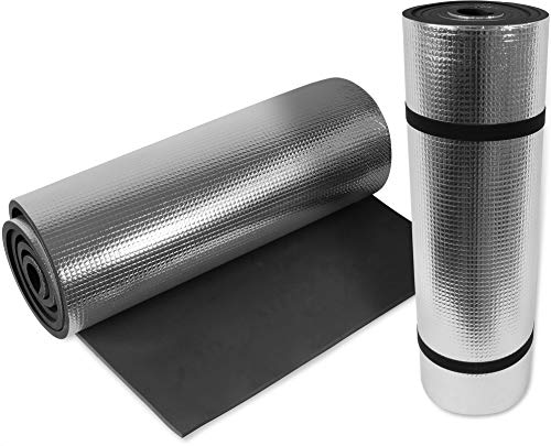 normani 2 oder 4 Ultraleichte Isomatten mit Aluminiumbeschichtung/Alu Thermomatten Farbe Schwarz / 2 Stück
