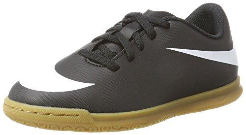 Nike Jr Bravata II IC - Scarpe da Calcetto Indoor Unisex Bambini, Nero (Black/White/Black 001), 35 EU