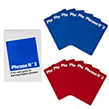 Phrase It 2 English Learning Card Game with Phrasal Verbs and Nouns - Educational Flashcards