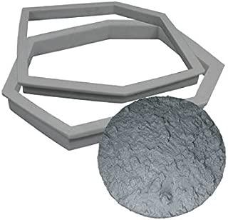Concrete Stepping Stone Molds | Stepstone Maker - Advanced Kit | DIY Pathmate Kit | Concrete Stamp Stone Texture (Half Moon Bay Boulder)