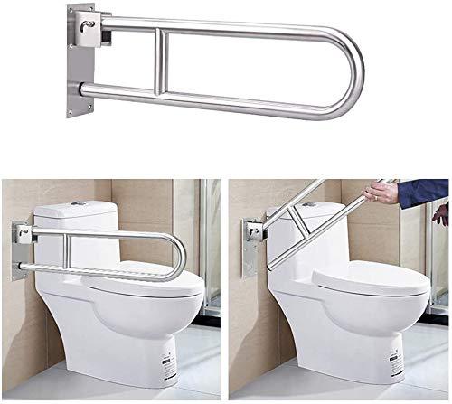 Handicap Toilet Rail Grab Bars for Bathroom Shower Handles for Elderly 30-Inch Shower Bars Safety Toilet Rails Bathtub Flip Up Grab Bar Tub Safety Handrails Toilet Handicapped Assist Rails for Seniors