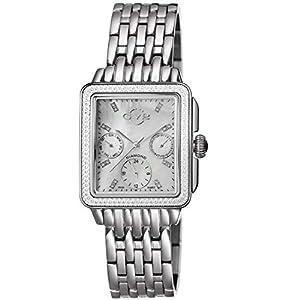 GV2 by Gevril Women's 9210 Bari Multi Analog Display Swiss Quartz Silver Watch Set image