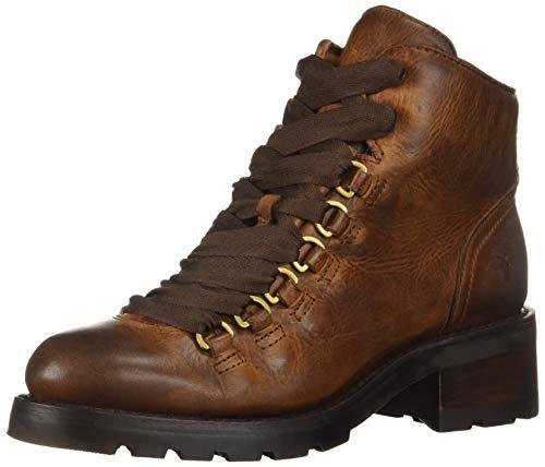 FRYE Women's ALTA Hiker Combat Boot, cognac, 8 M US