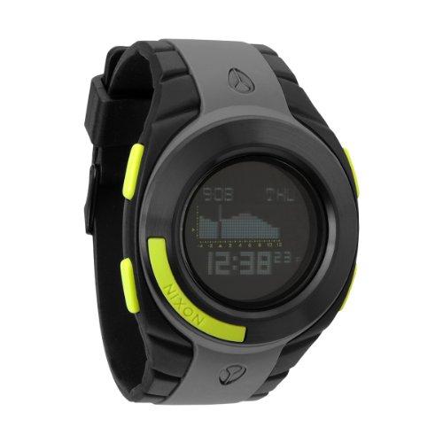 Nixon Herren-Armbanduhr The Outsider Tide Gray/Black/Lime Digital Quarz Plastik A128485-00