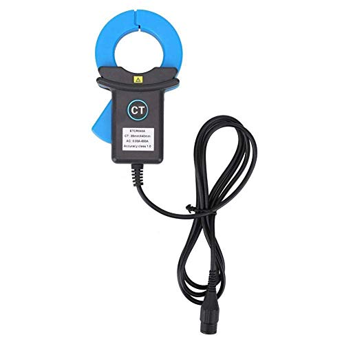 JHYS Multímetro portátil, multímetro Digital de Pinza amperimétrica, Pinza amperimétrica, Sensor de Corriente, detección de Fugas, Instrumento eléctrico de medición Industrial, Enchufe BNC Azul