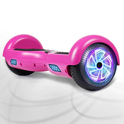 "FLYING-ANT Hoverboards 6.5"" Two-Wheel Self Balancing Electric Scooter with LED Light Flash Lights Wheels with UL 2272 Certified and Carry Bag(red)"