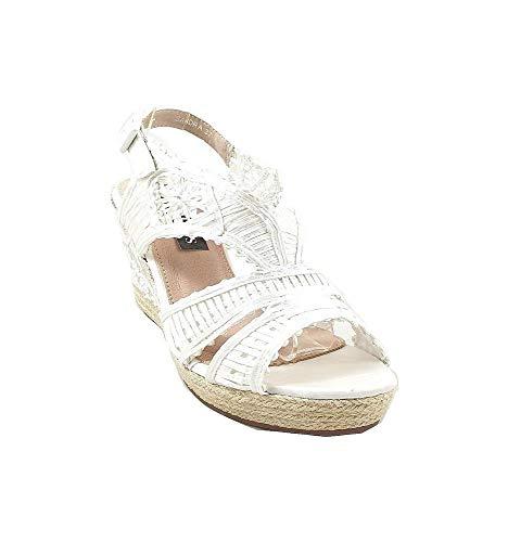 Timbos Zapatos - 121996 Cuña Novia Esparto, para Mujer, Color Blanco, Material...