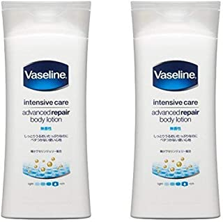 (Bulk Purchase) Vaseline Intensive Care Advanced Repair Body Lotion Unscented 200ml (x 2)