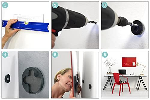 SIGEL GL141 Premium Glas-Whiteboard 100x65 cm super-weiß / Glas Magnettafel / Sicherheitsglas / TÜV geprüft / Magnetboard Artverum - weitere Farben/Größen - 5