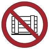 Interdit ou entrepôts conformément à la Norme ISO 7010, ASR A1.3, Rouge
