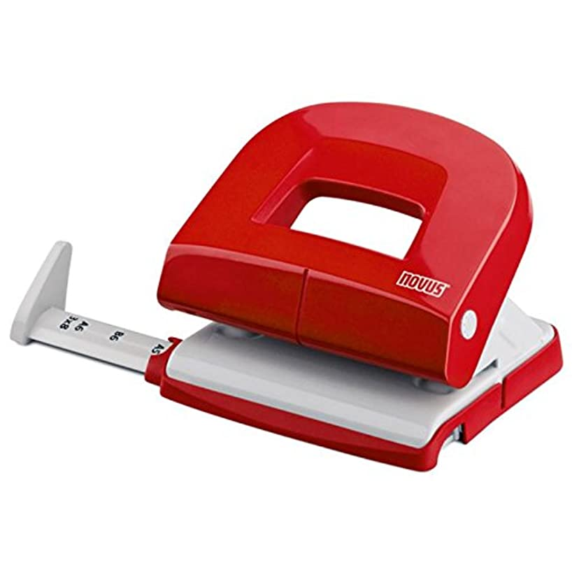 NOVUS Office) NOVUS E 216 Hole Punch, red/Grey, Metal/Plastic, 1.6 MM