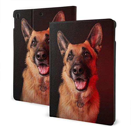 Geometry 3D Cube Maze Funda para iPad Air 3rd Gen 10.5 '2019 / iPad Pro 10.5' 2017 Soporte Tipo Folio de múltiples ángulos Auto Sleep / Wake para iPad 10.5 Pulgadas Tablet-German Shepherd-One Size