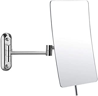 Makeup Mirror, Wall Mounted Mirror, 3X Magnification Bathroom Shaving Mirror Magnifying Vanity Swivel Mirror, 360° Rotatable and 8 Inch Extendable Arm, Chrome Finished