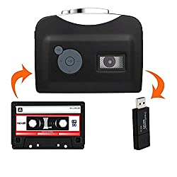 AGPtek Portable Cassette Audio Music Player,Tape to MP3 Converter,Walkman Stereo Tape Cassette Recorder with Earphones/No PC Required