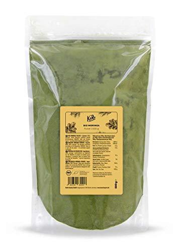 KoRo - Poudre de moringa bio   500 g - Super aliment naturel sans gluten et vegan 100% issu de l'agriculture biologique