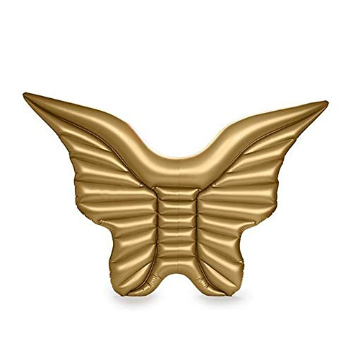 SHARESUN Angel vleugels drijvende rij, engel vleugels drijvend bed mounts watervoorraden, strand ligstoel, 250 * 180cm, wit/goud