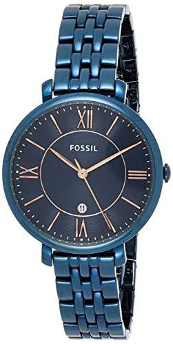 Fossil Damen Analog Quarz Uhr mit Edelstahl Armband ES4094