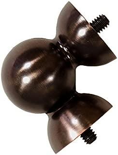 allen + roth Oil-Rubbed Bronze Steel Single Curtain Rod Bracket