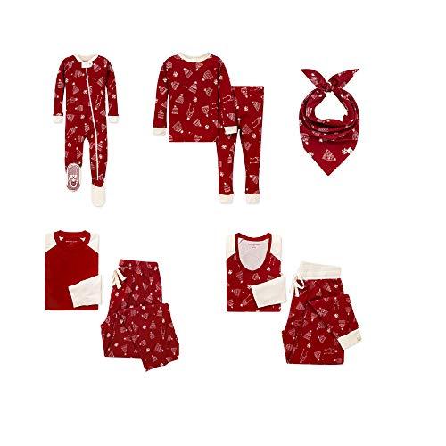 Burt's Bees Baby, Family Jammies, Matching Holiday Pajamas, Organic Cotton PJs, Hat's Off, Toddler & Kids, Medium (8/10)