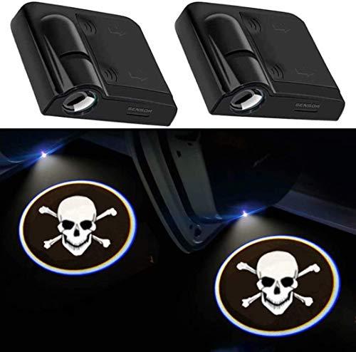 Proyector de luz para coche, 2 unidades, luz de sombra para la puerta del coche, universal, inalámbrico, magnético, inalámbrico, con sensor de sombra para la puerta del coche