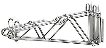 Nexel 18 Fixed Wall Mount Double Wire Shelf Bracket Chrome Finish