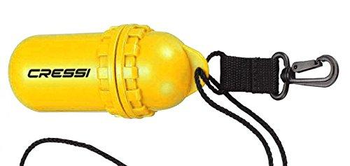 ScoobaGoodies Cressi Dry-Box Tauchei gelb Yellow Taucherei Aufbewahrungsbox wasserdicht Waterproof