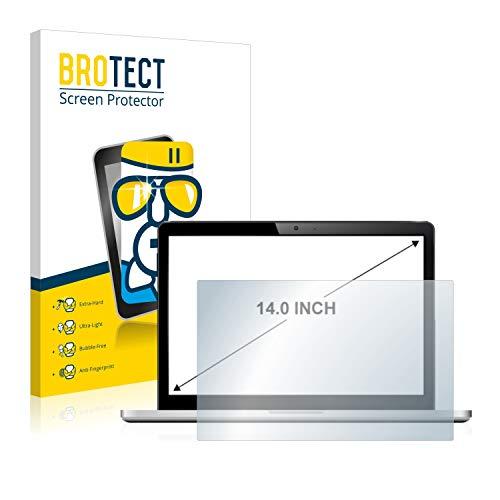 brotect Pellicola Protettiva Vetro per Notebooks (14 Pollici) [310 mm x 175 mm, 16:9] Schermo Protezione Durezza 9H, Anti-Impronte, AirGlass
