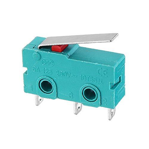 3Pcs Kw4-3Z-3 Vástago recto 3D Pritner 3Pin Micro Interruptor final de carrera Límite Ss-5Gl