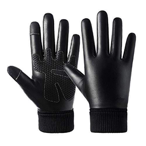 XYBB Guantes de Moto Invierno más cálido Espesar Moto Vespa Muffs Impermeable a Prueba de Viento for Hombres Mujeres Motociclismo (Color : B, Size : M)