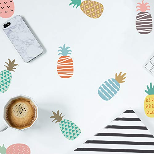 Pineapple Stickers Wall Decals, Cute Pastel Wall Stickers Wallpaper Removable Peel and Stick, Vinyl Waterproof for Kids Girls Room Bedroom Living Room Nursery