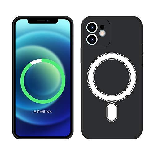 Aplicable a Apple 12 12 Pro Max Mini funda magnética para teléfono móvil, silicona líquida iPhone11, carga inalámbrica, anticaída, todo incluido, funda protectora xs