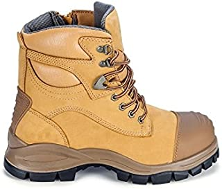 Blundstone 992 Steel Toe Safety Men's Work Boots 150mm Lace & Zip Color - Wheat Size - 9 AU/UK