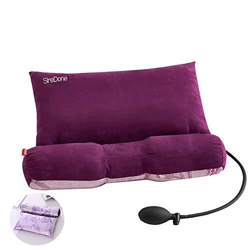 ClothHouse Cassia Almohada Cervical Reparación Espina Cervical Adulto Especial para Dormir Cuello Almohada Corrección Almohada Núcleo Redondo,Purple