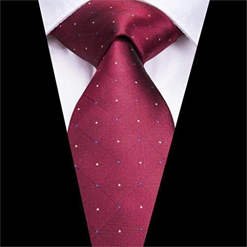 XZ Tie-Sn 3172 nuovo colore rosso del legame 8.5cm seta jacquard tessuti, per uomo vino rosso della cravatta Hanky gemelli Wedding Set tasca classica Piazza Tie Moda Uomo,un'
