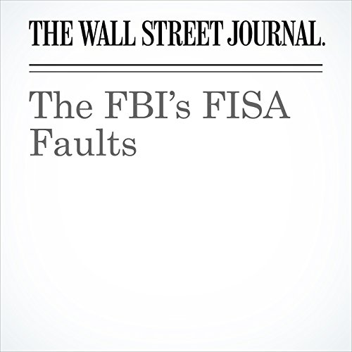 The FBI's FISA Faults copertina