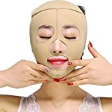 LLDY Masque Facial Amincissant Les Bandages Masque du Visage Sculptant V Ligne Ceinture de Compression de Cou de Courroie de Double Ceinture de Perte de Poids de Courroie de Menton,L