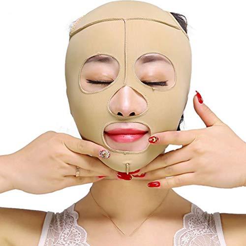 LLDY Masque Facial Amincissant Les Bandages Masque du Visage Sculptant V Ligne Ceinture de Compression de Cou de Courroie de Double Ceinture de Perte de Poids de Courroie de Menton,XL