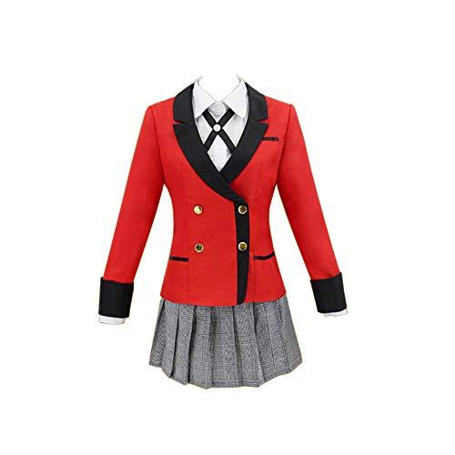 BellaPunk Damen Yumeko Jabami Cosplay Anime Kakegurui Kostüm Hyakkaou Schuluniform (M, Kirari Set)