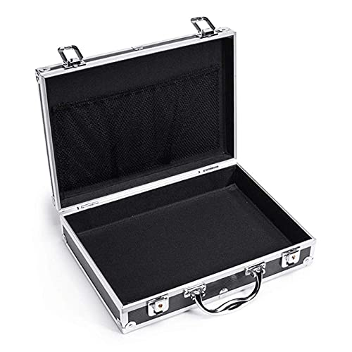 XBSXP Aluminum Alloy Tool Storage Boxs, With Combination Locks Toolbox System Case/Removable Tool Cabinet, Black-b