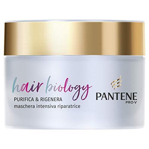 Pantene Pro-V Maschera Capelli Hair Biology Purifica & Rigenera, per Capelli Grassi alla Radice e Fibre Danneggiate, 160 ml