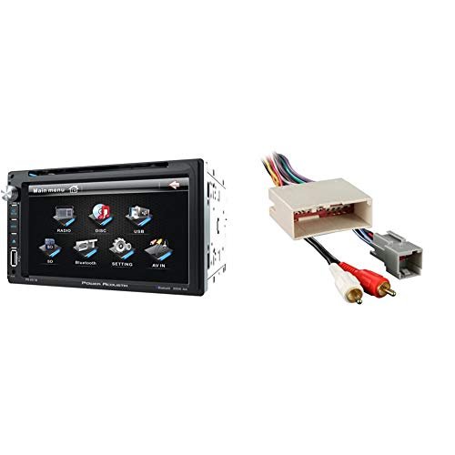 Power Acoustik PD‐651B 6.5' Double-DIN in-Dash LCD Touchscreen DVD Receiver...