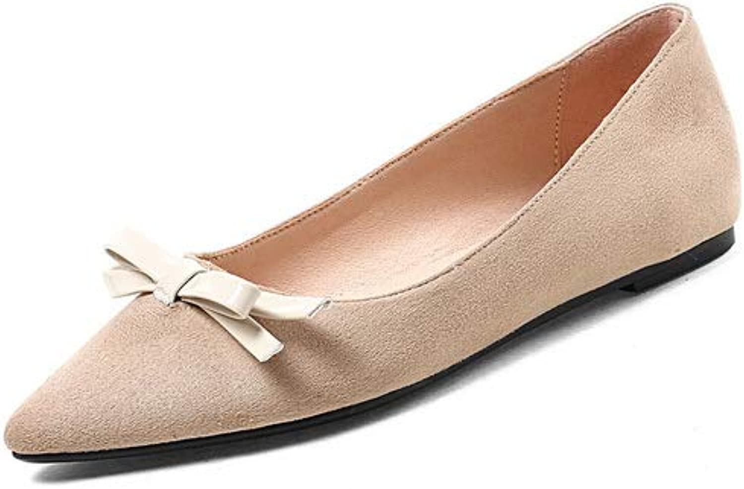 BalaMasa Womens Bows Solid Casual Leather Pumps shoes APL10480