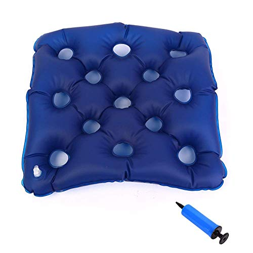 JTYX CUSHIONS Opblaasbaar kussen anti-decubitus voor oudere rolstoelbestuurders zitkussen comfortabel ademend luchtkussen met opblaasbare slang