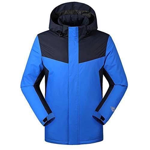 ANZQHUWAI winterjack mannen vrouwen warm houden para´s buitenshuis Smart-USB-infrarood verwarming mantel elektrische thermostaat met capuchon kleding