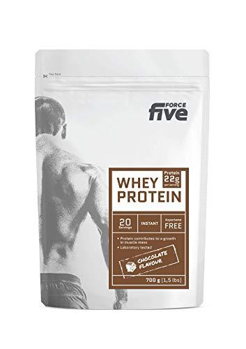 ForceFive Whey Protein. Concentrado de proteína de suero de leche, 700g (Chocolate)