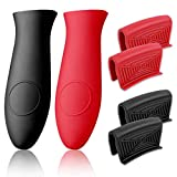 Silicone Hot Handle Holder, Cast Iron Handle Cover, 6 PCS Cast Iron Skillet Handle Covers Assist Pan...