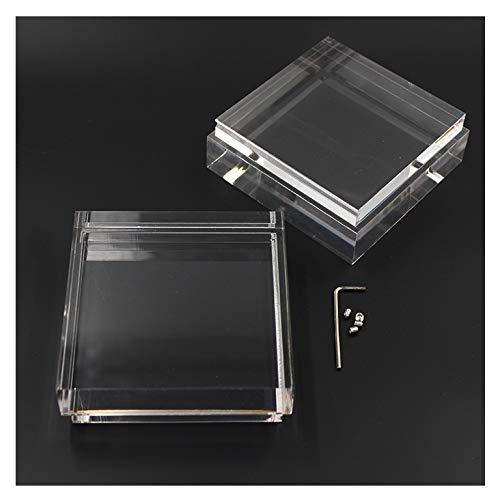 Glas klar acryl Lampenerweiterung 100mm x 100mm für 30W / 12W Outdoor Haus Garten   SpiceLED