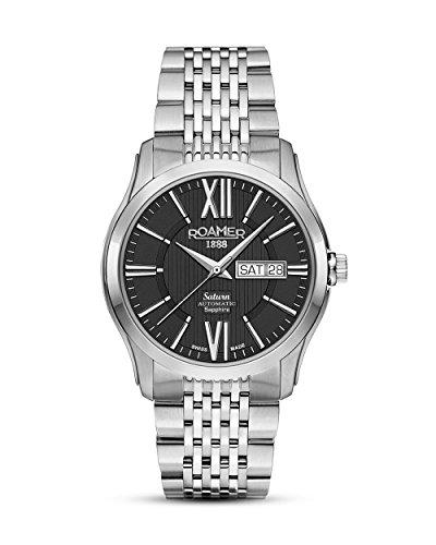 ROAMER Herren Analog Mechanik Uhr mit Edelstahl Armband 960637 41 53 90