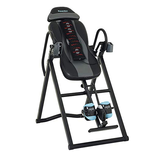 Prevention Inversion Table UL Certified with Heat and Massage Therapy, Grey/Light Blue