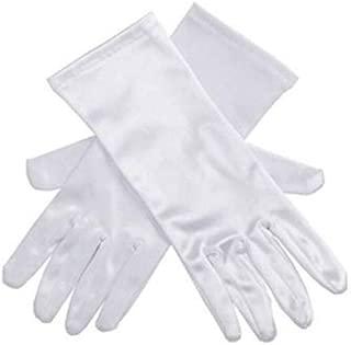 Audrey Style Long White Satin Opera Gloves Women